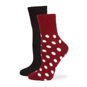 Hue Women's 2 Pairs Quilted Dot Boot Socks